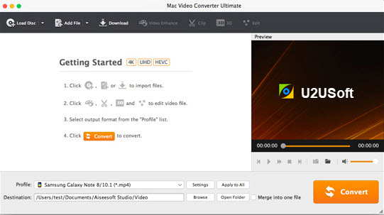 Interface of Aiseesoft Mac Video Converter Ultimate